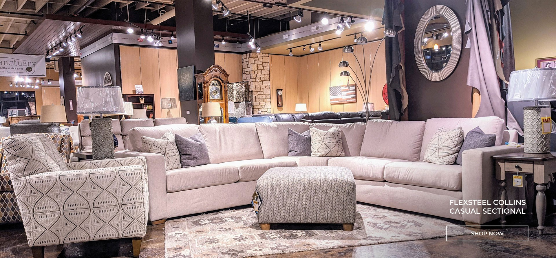 Shop Flexsteel Collins Sectional