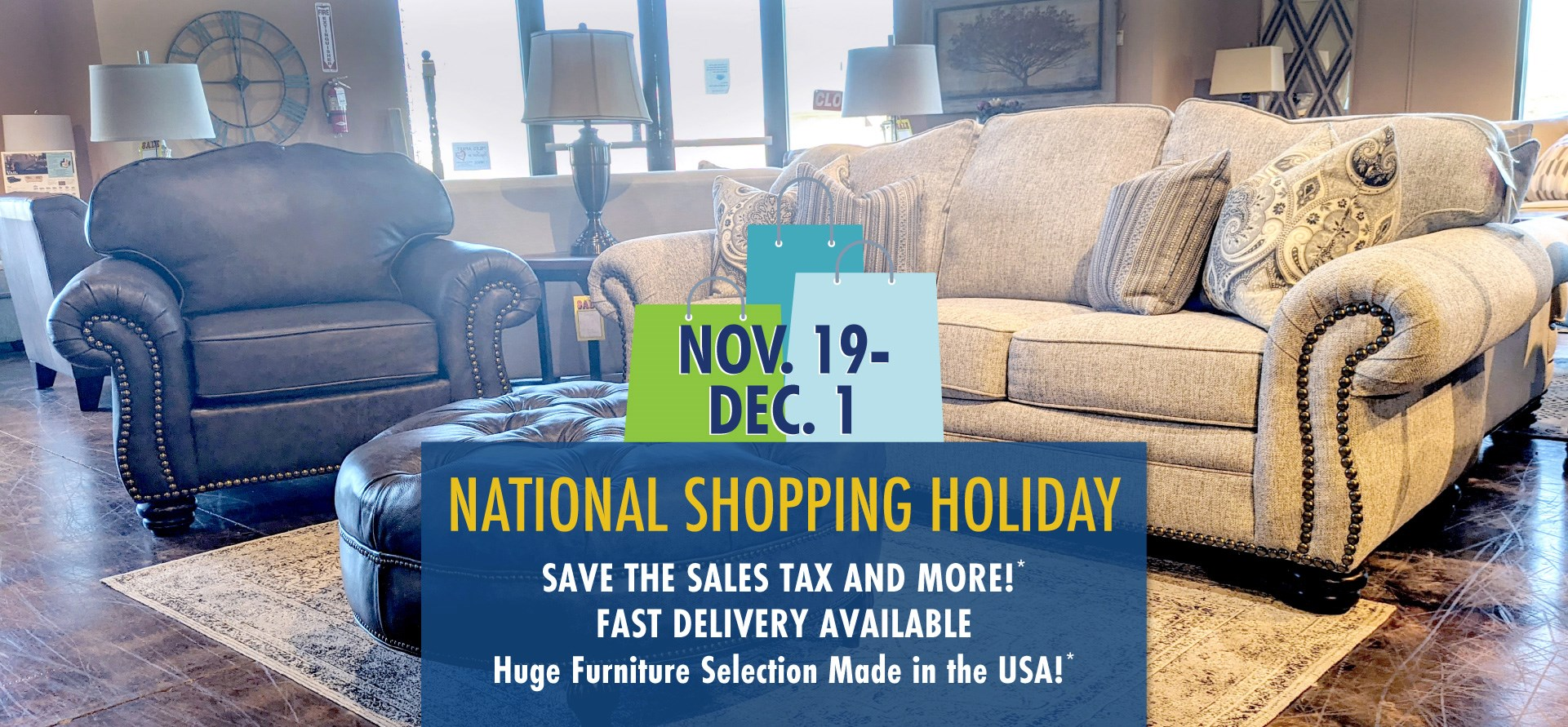 National Shopping Holiday at Mueller Furniture