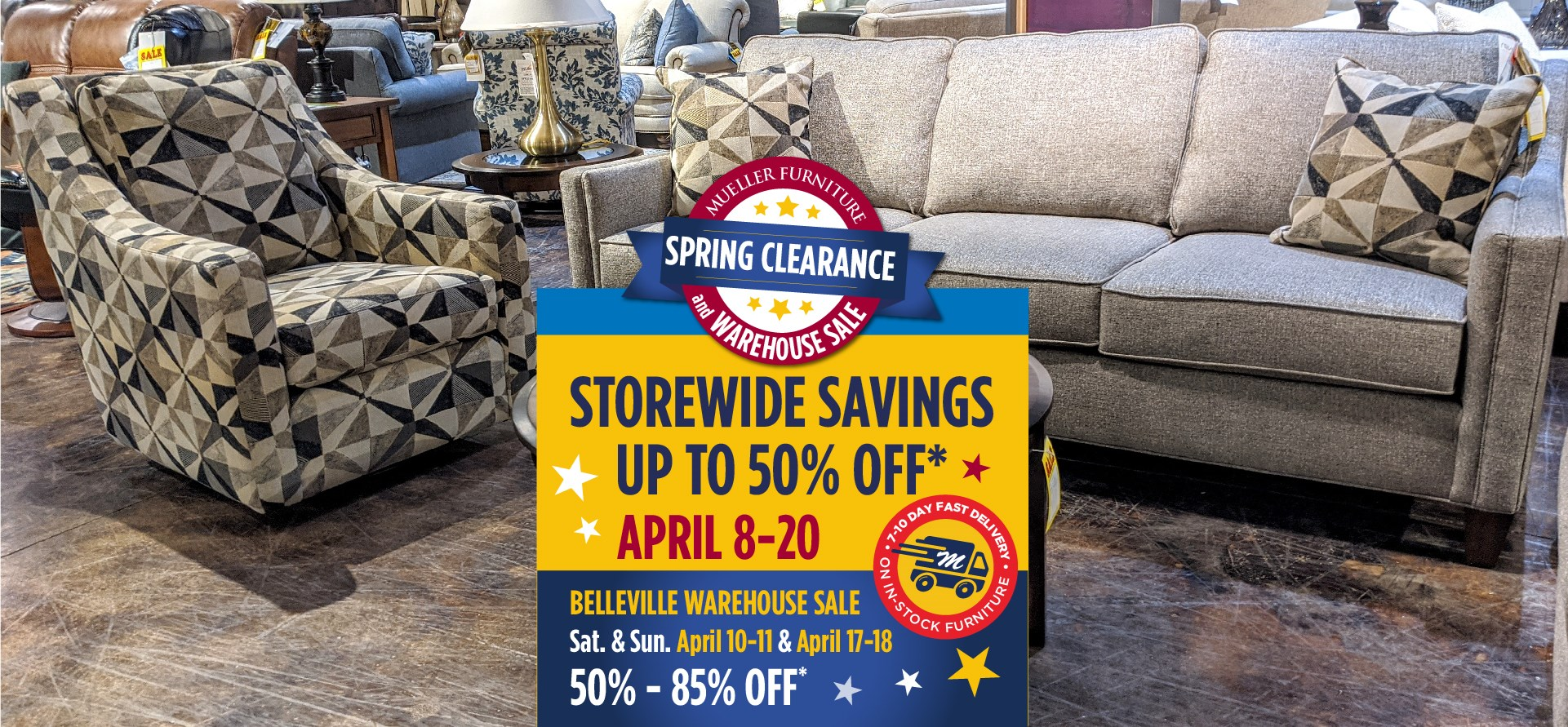 Spring Clearance at Mueller Furniture
