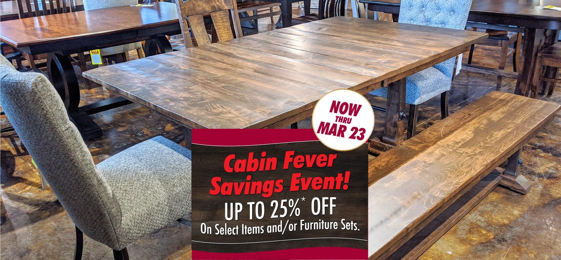 Cabin Fever Sale at Mueller