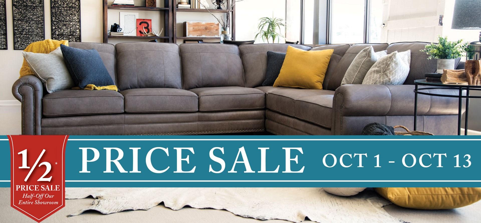 Half Price Sale at Mueller Furniture