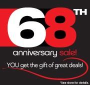 68th Anniversary Sale