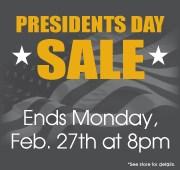 President's Day - Bonus Offer