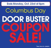 Columbus Day Coupon Sale
