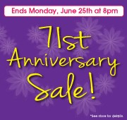 71st Anniversary Sale