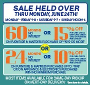 60 Months or 15% Off - Held Over