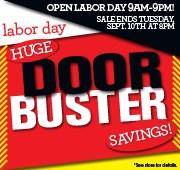 Labor Day Door Buster Sale