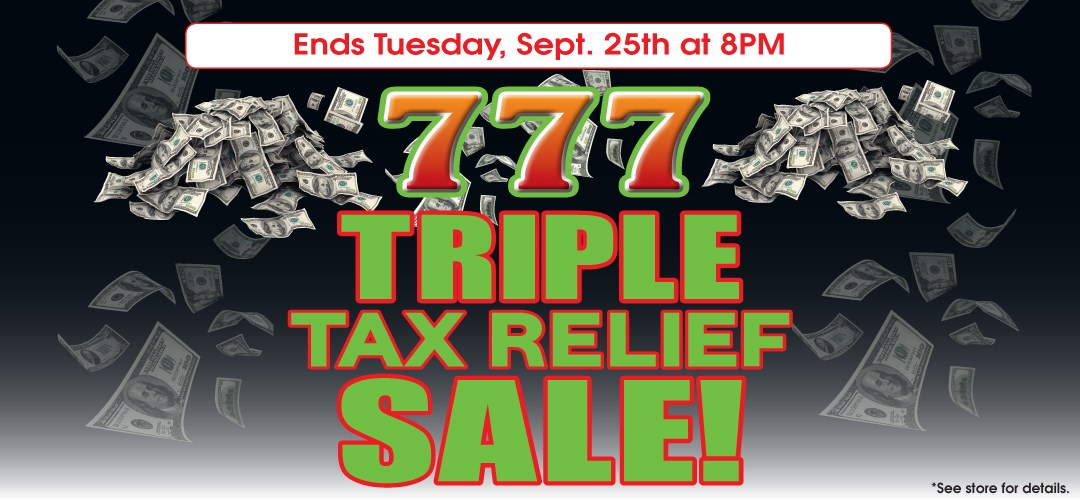 Delicieux Triple Tax Relief Sale ...