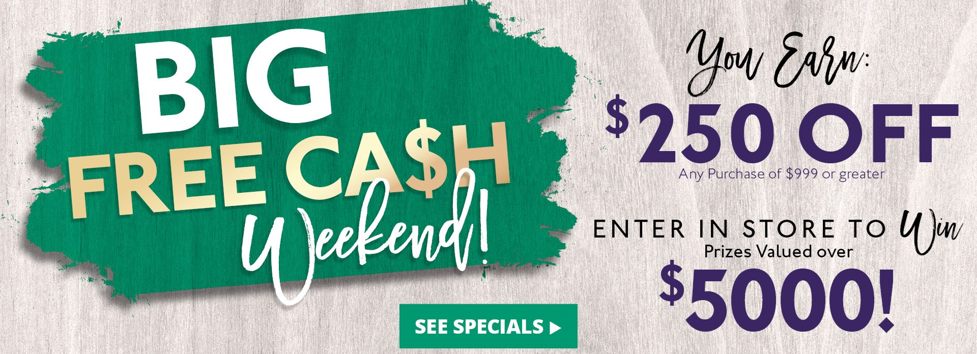 Big Free Cash Weekend