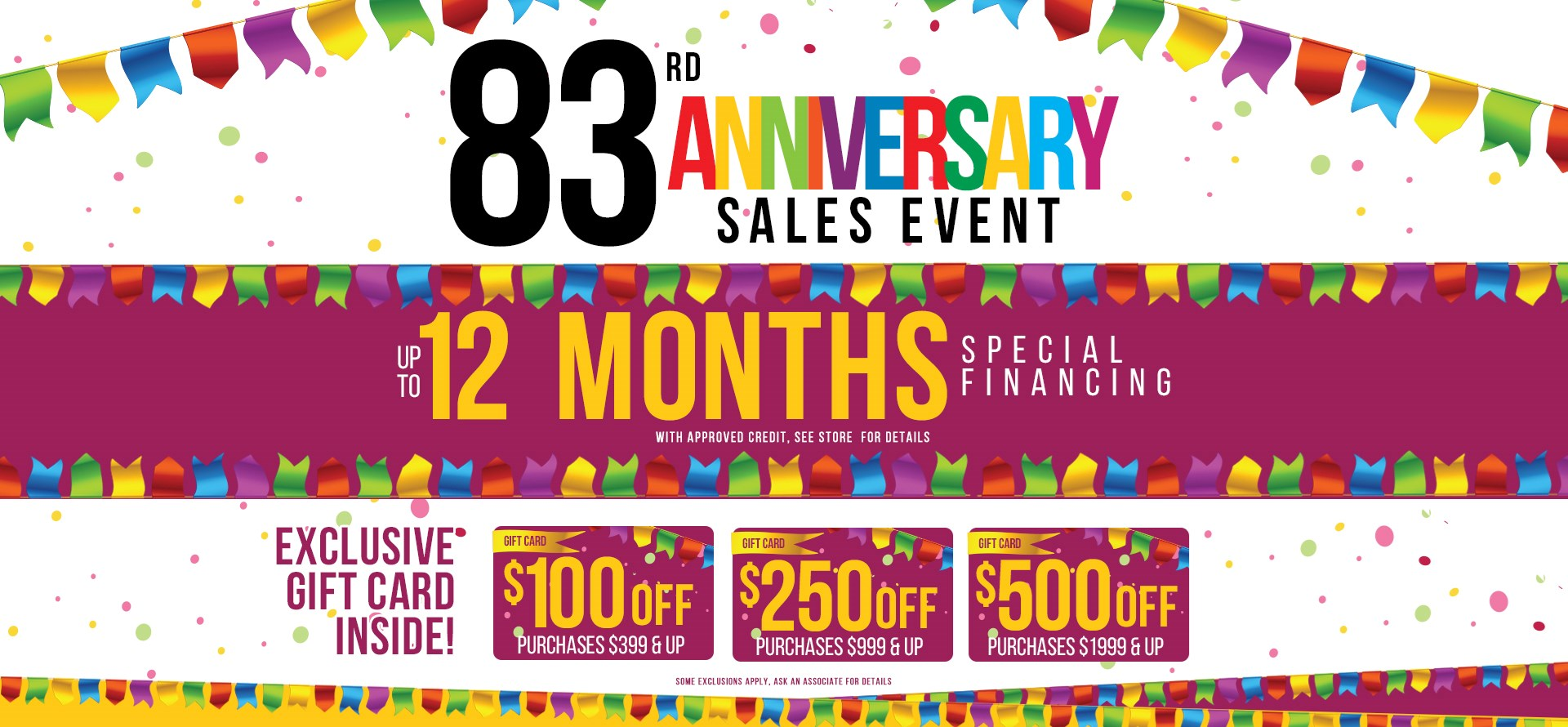 83rd Anniversary Sale