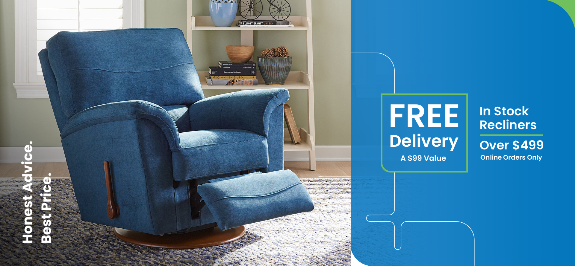 Free Delivery on In Stock Recliners Over $499