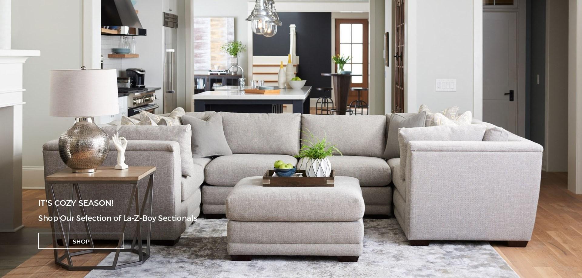 It's Cozy Season! Shop Our Selection of La-Z-Boy Sectionals.