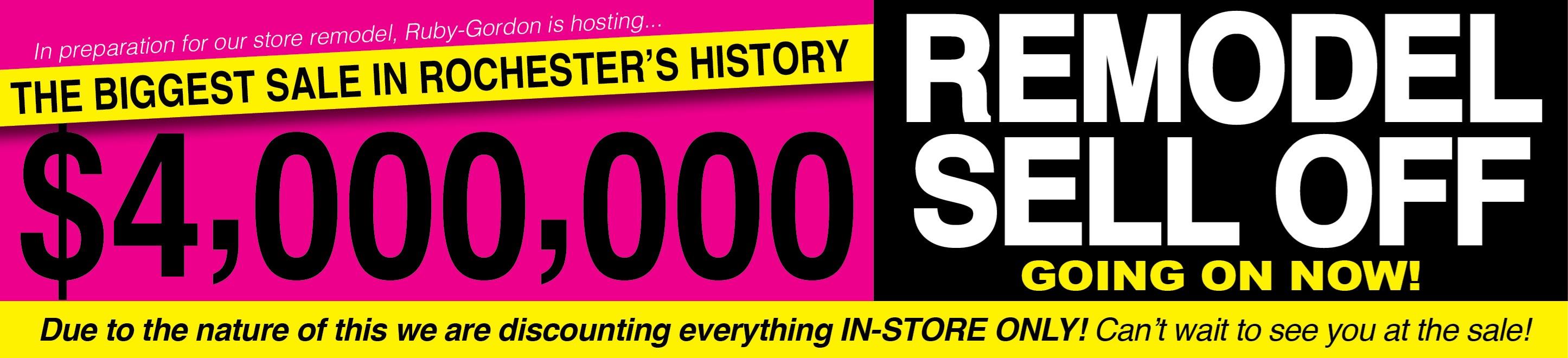 $4 Million Remodeling Sale
