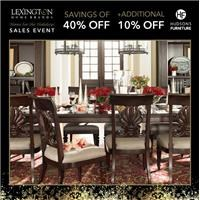Lexington Home for the Holidays Sales Event | Savings of 40% Off | + Additional 10% Off at Hudson's Furniture