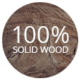 100% Solid Wood