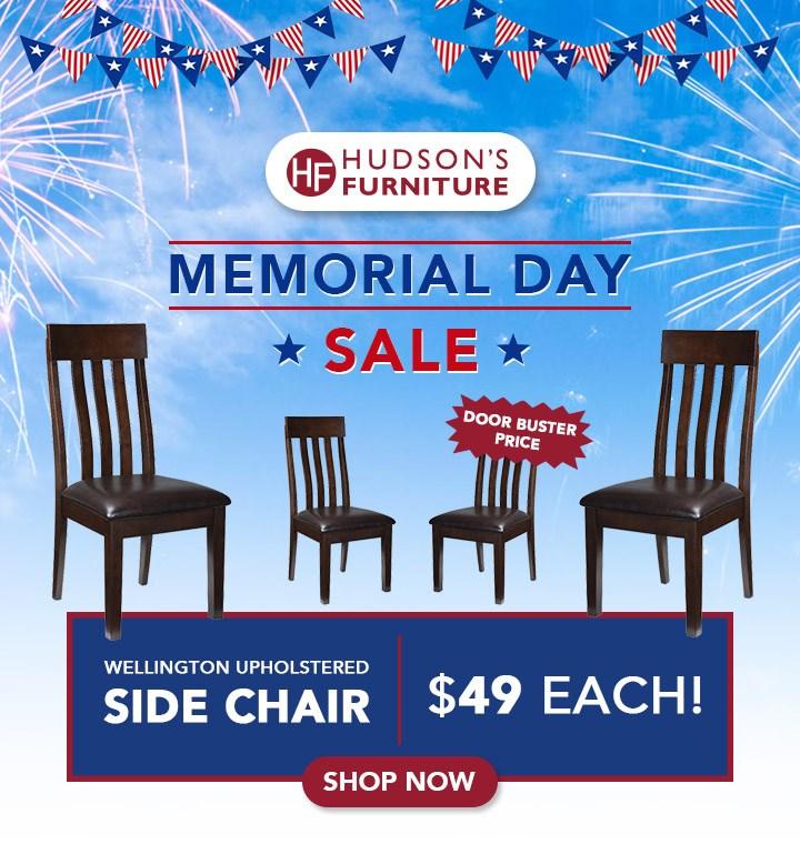 Wellington Upholstered Side Chair Hudson S Furniture