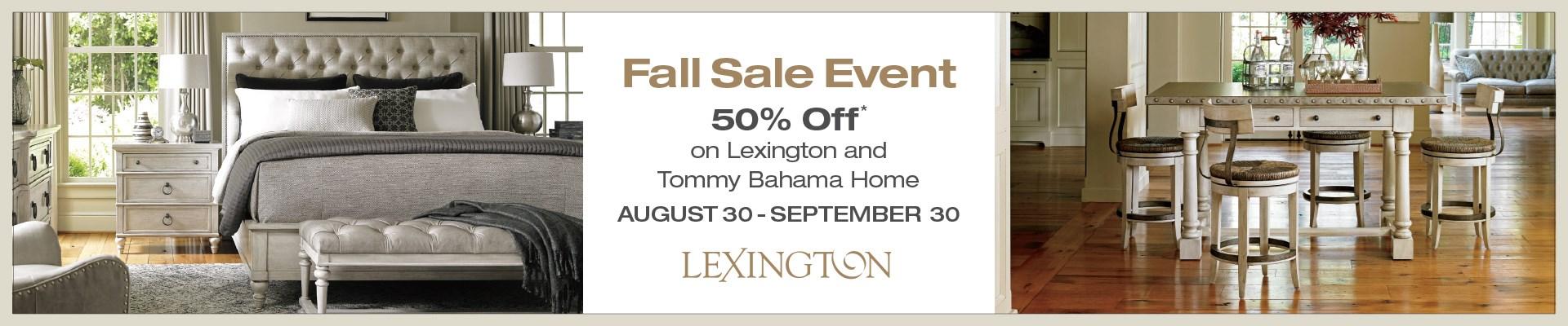 Lexington & Tommy Bahama 50% Off