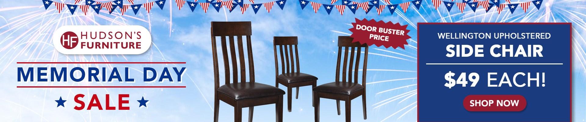 Wellington Upholstered Side Chair Hudson's Furniture Sale
