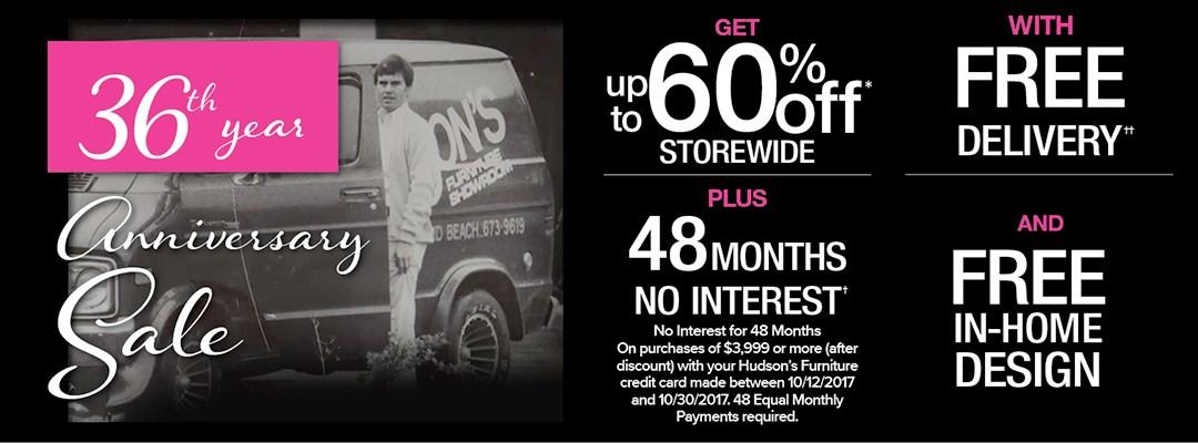 36th Anniversary Sale