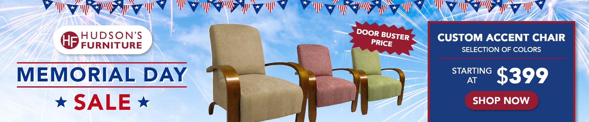 Memorial Day Hudson's Furniture Sale