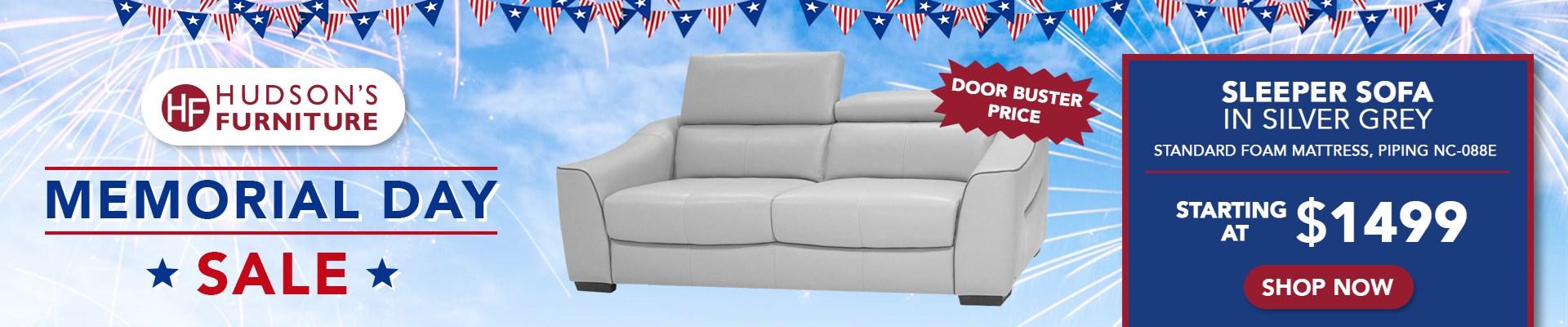 Sleeper Sofa Sale Hudson's Furniture Memorial Day Savings