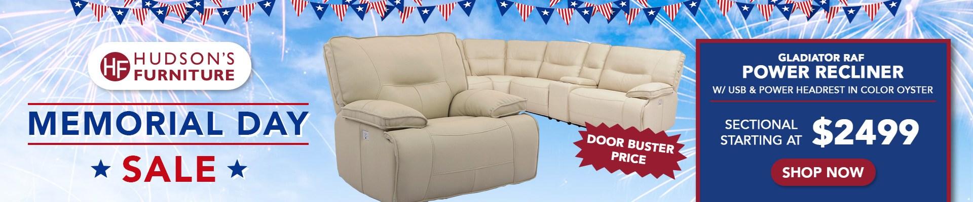 Gladiator Sofa Hudson's Furniture Memorial Day Sale