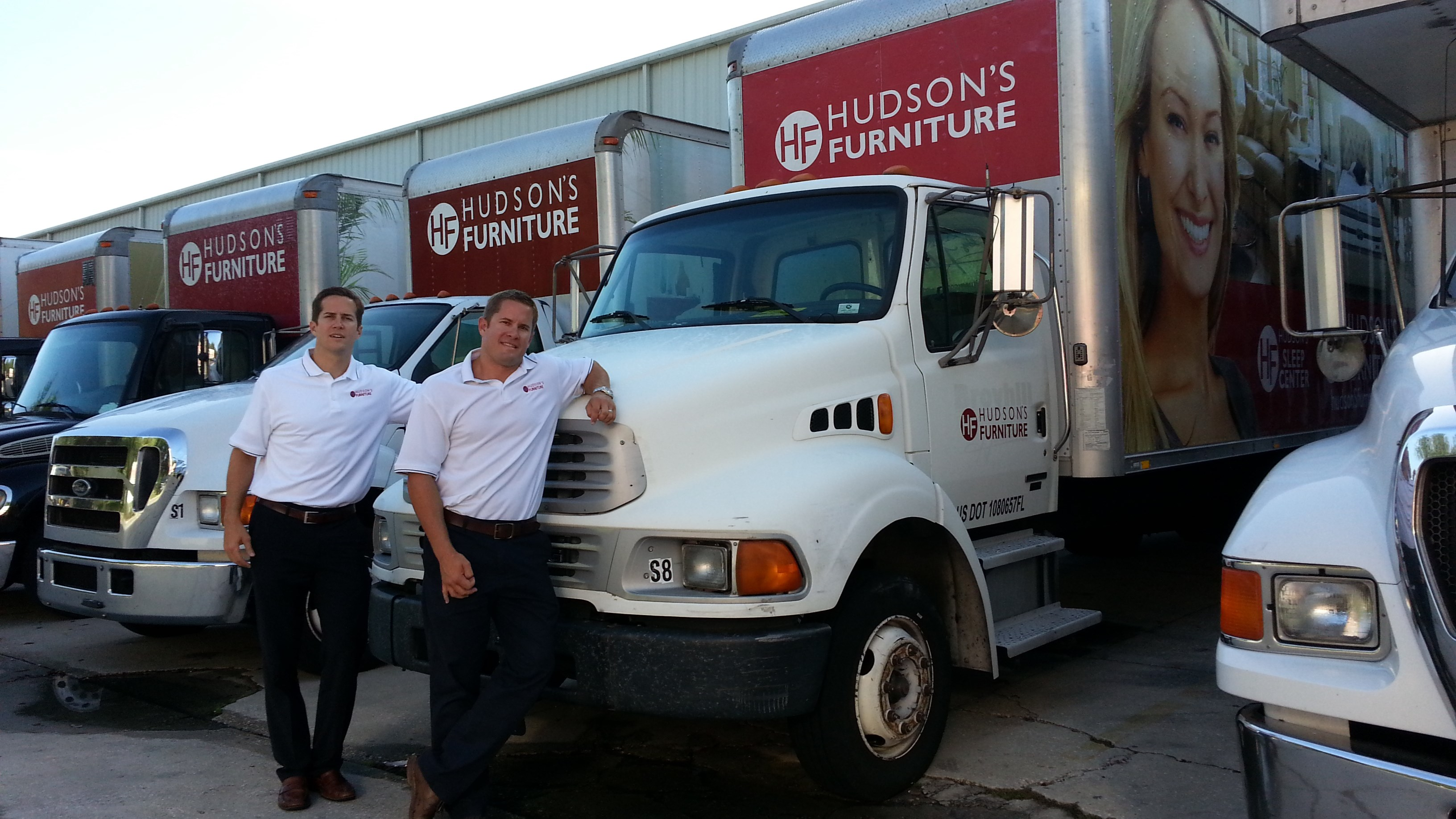Josh & Adam Hudson with Hudson's Delivery Truck
