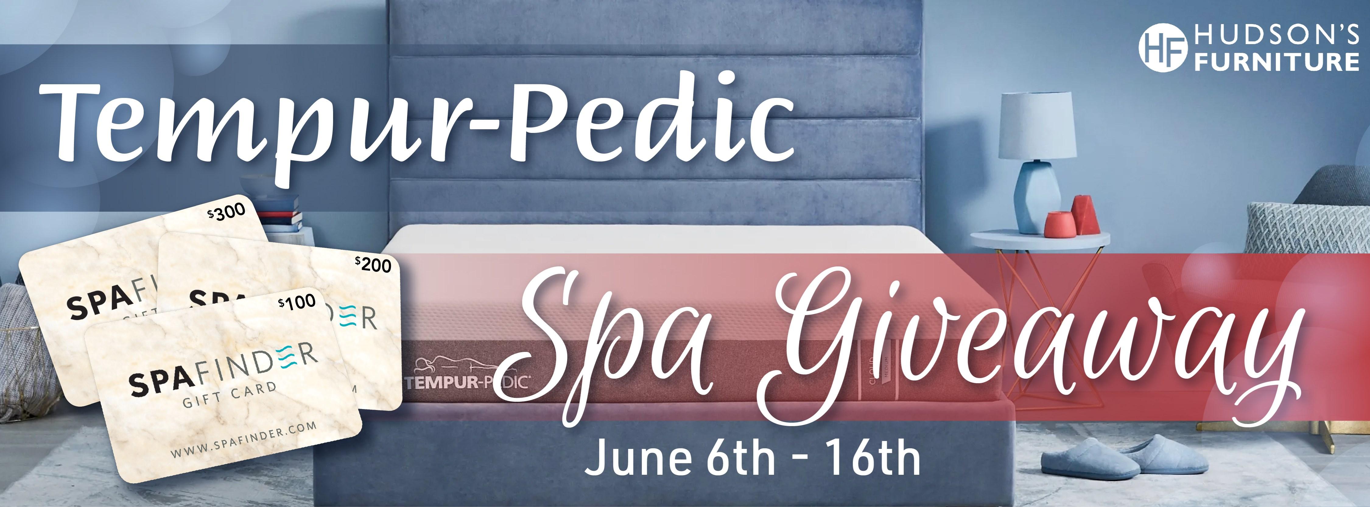 Tempur-Pedic Spa Giveaway