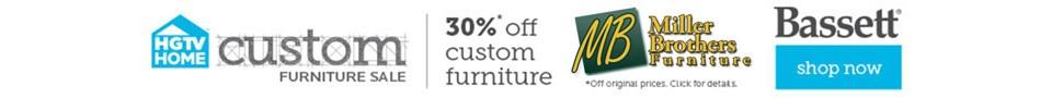 HGTV Bassett furniture is customizable