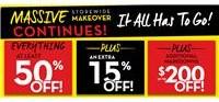 Massive Makeover Sale