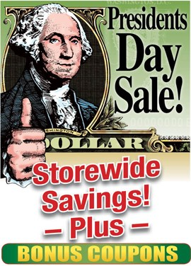 Presidents Day Sale!