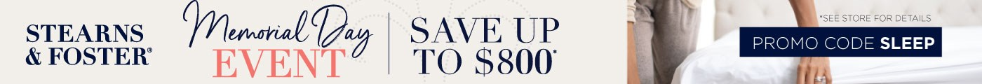 Stearns and Foster   Save up to $800