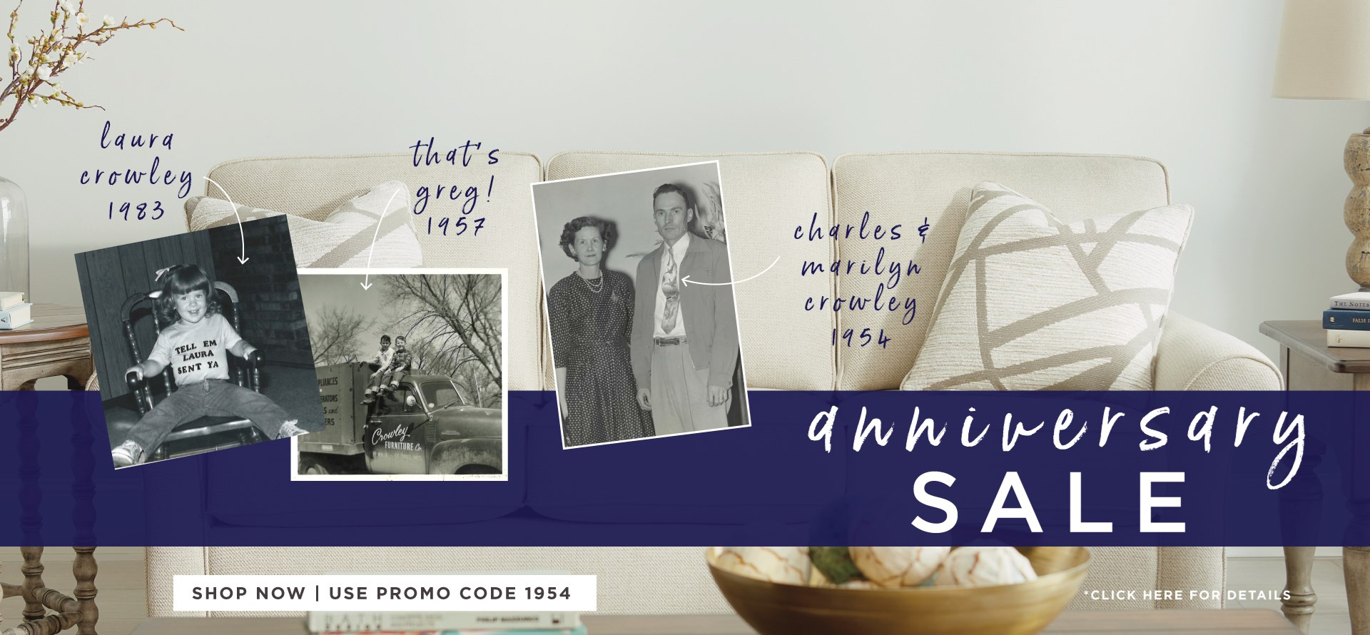 Anniversary Sale   Serving Kansas City Since 1954   Shop Now and Use Promo code 1954   *Click here for details