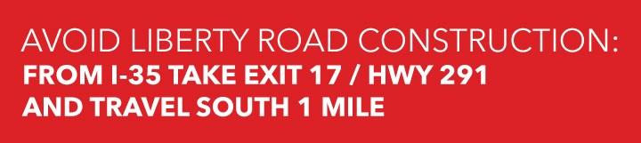 Avoid liberty road construction