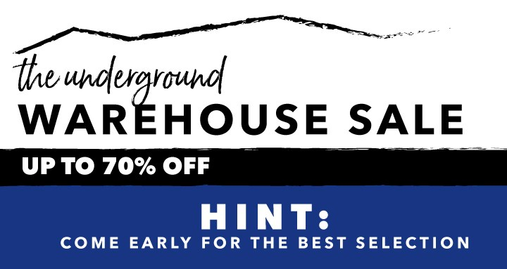Underground Warehouse Clearance Event