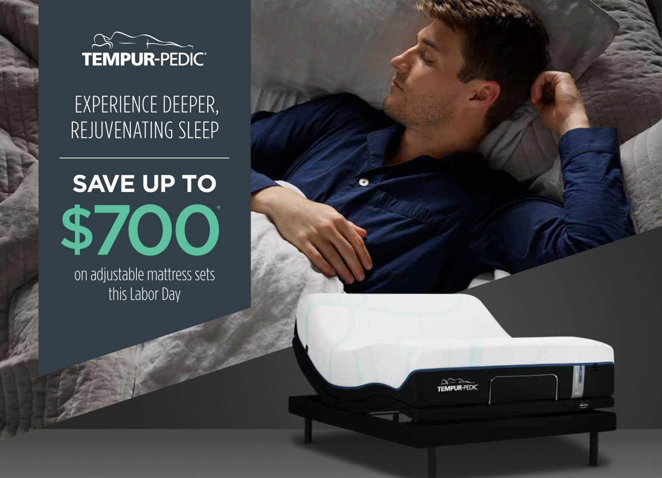 Tempur-Pedic save up to $700!!!