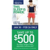 Tempur Save up to $500!