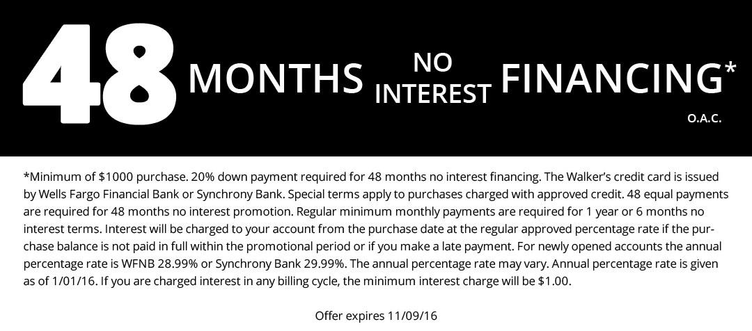 48 Months No Interest