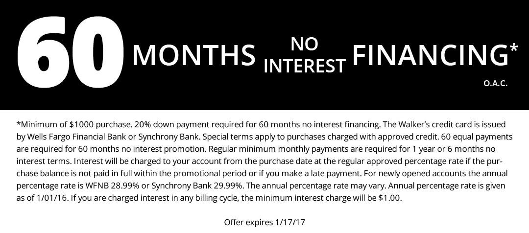 60 Months No Interest
