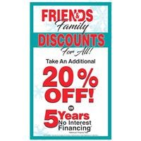 Friends and Family Discounts for All!
