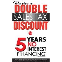 Double Sales Tax Discount!
