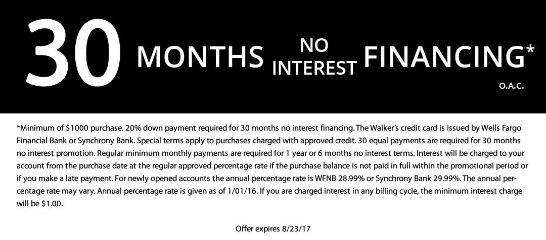 30 Months No Interest