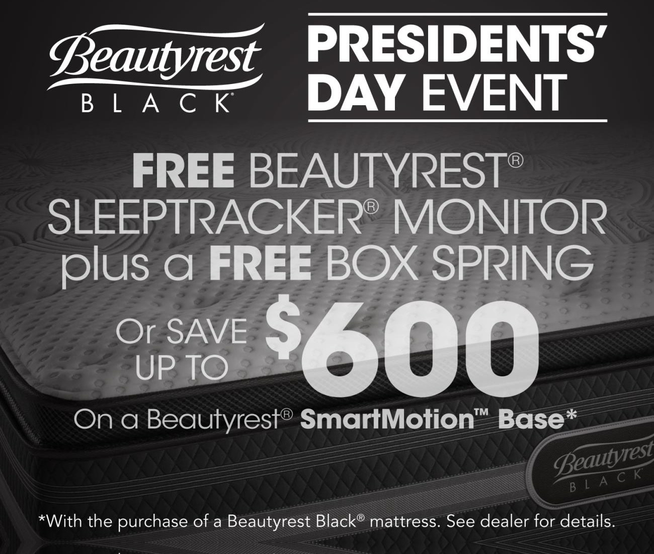 Beautyrest Black Free Boxspring or Save up to $400!