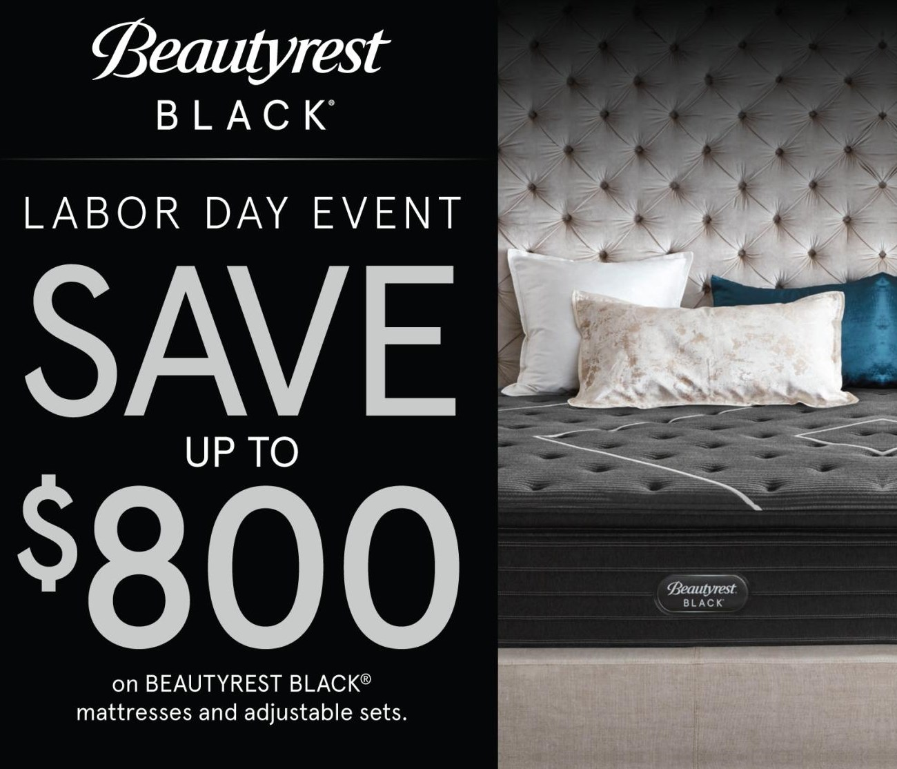 Beautyrest Black save up to $800!!!