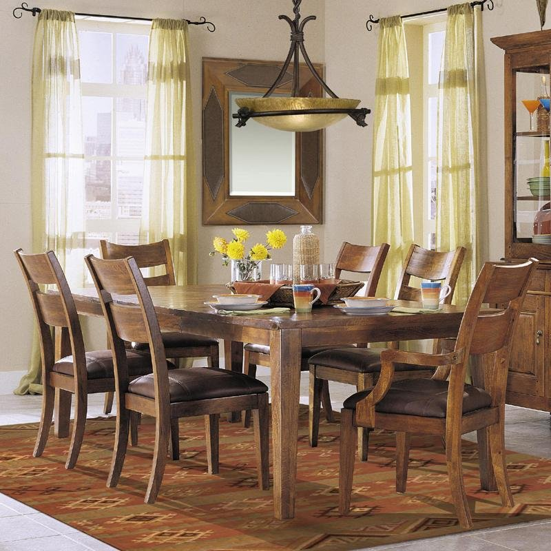 This Simple Table Adds Rustic Appeal To Your Formal Dining Room For An Inviting Setting