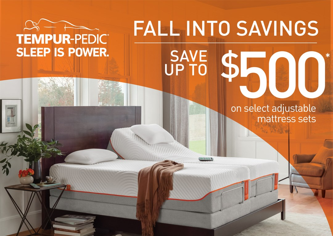 Tempur-Pedic Save up to $500!