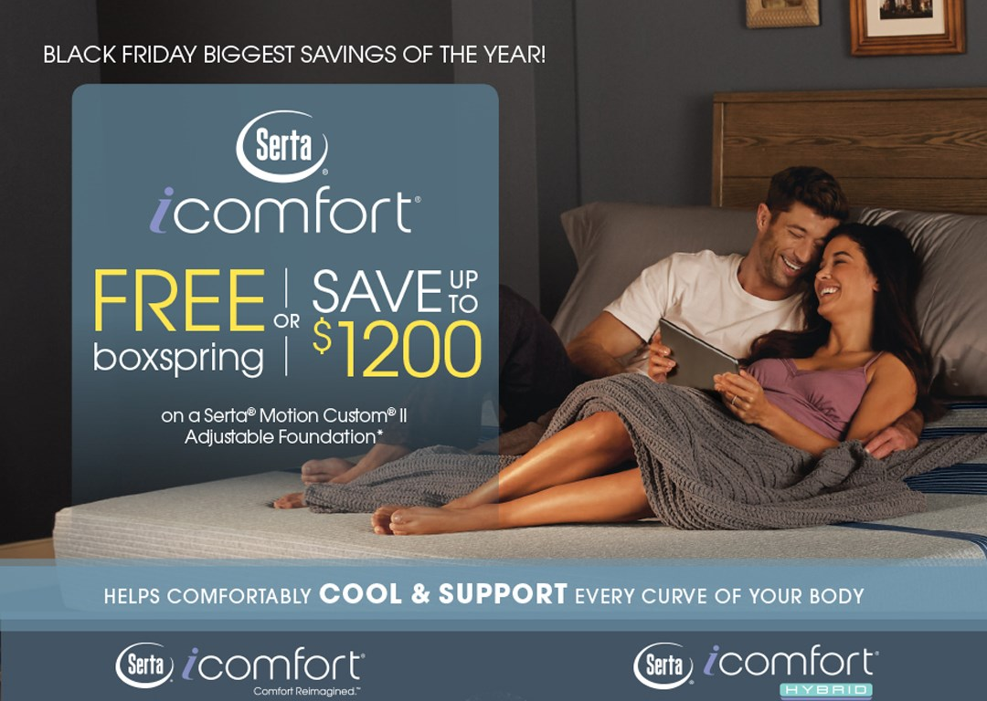 iComfort Free Boxspring or Save up to $1200!!