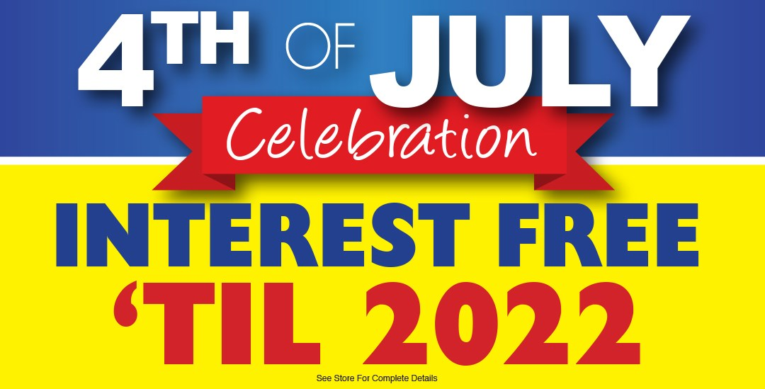 July 4th interest free