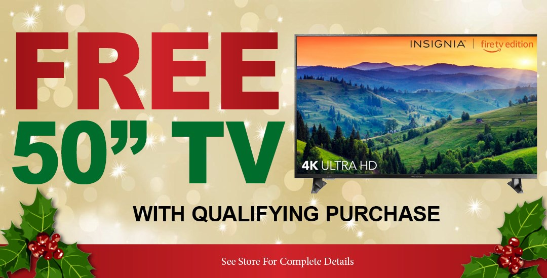 Free TV w/ purchase