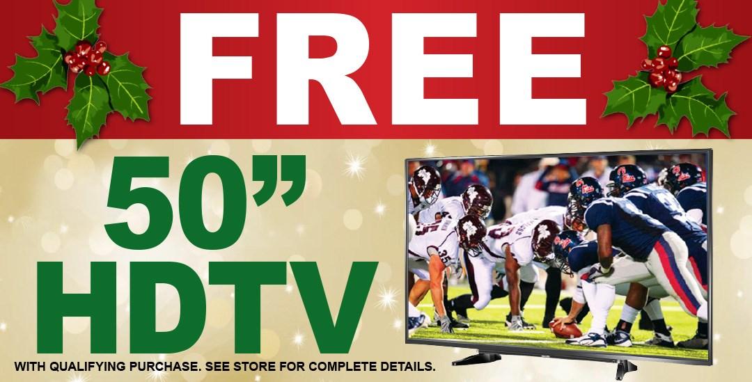 Free Tv w/ min purch of 2999